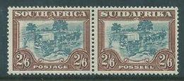 South Africa, GVIR, 1945, 2/6, Blue & Brown, Pair,  MH * - South Africa (...-1961)