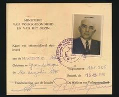 KAART VAN WEGGEVOERDE  1914 - 1918   2 SCANS - 1914-18