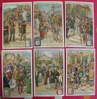 6 Chromo Liebig. L'historique Du Costume Masculin. 1907. S 887. Chromos. édition Française - Liebig