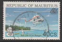 Mauritius 1993 The 25th Anniversary Of Air Mauritius 40 C Multicoloured SW 779 O Used - Mauritius (1968-...)