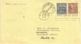 USA 1939 Washington DC White House Martha FDC Cover To Okahandja Karibib SWA Namibia - 1851-1940