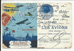 * RARE , LES AVIONS , Valse Chantée Par LINA CAMBARDI , 1912 , Carte Postale écrite Par Un Critique De Théâtre - Theatre