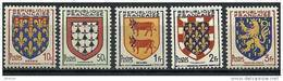 """FR YT 899 à 903 """" Armoiries De Provinces """" 1951 Neuf** - Unused Stamps"""