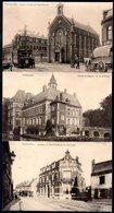 2 Old Postcards,France,HAUBOURDIN,Rue Sadi-Carnot,Hospice,Chateau De Beaupré, Used 1916 - Haubourdin