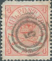 DANIMARCA - DANMARK 1864 -1870 Royal Emblem,4S. Carmine-Used-Value €30,00 - Usati