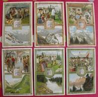 6 Chromo Liebig. Us Et Coutumes Dans Les Alpes. 1907. S 915. Chromos. édition Française - Liebig