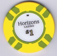 Casino Chip Fiche 1£ Horizons Casino - Casino