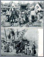 2 Alte Postkarten,HAMBURG,Tierpark Habenbeck,Schaustellung Indien,Elefanten, Ungelaufen - Asie