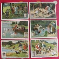 6 Chromo Liebig. Plaisirs D'été. 1910. S 991. Chromos. édition Française - Liebig