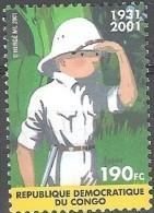 RDC 2001 COB 2092 Neuf ** Cote (2016) 2.50 Euro Tintin Au Congo Emission Commune Avec La Belgique - République Démocratique Du Congo (1997 -...)