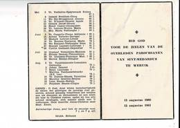 DP 8947 - OVERLEDEN PAROCHIAMEN SINT MEDARDUS WERVIK - 1960-1961 - Imágenes Religiosas