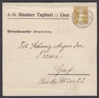 GR    BÜNDNER TAGBLATT CHUR / ZEITUNGSSCHLEIFE GANZACHE - Suisse