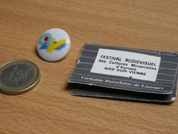 FESTIVAL AUDIOVISUEL DES CULTURES MINORISEES D'EUROPE.AIX SUR VIENNE.. PORCELAINE DE LIMOGES. - Medios De Comunicación