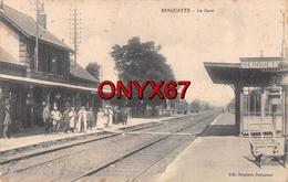 BERGUETTE (Pas De Calais) Gare Bahnhof Chemin De Fer Voie Ferrée Feldpost 28 Infanterie Division Militaire - Francia