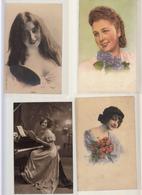 Fantaisies Portraits De Femme  Lot De 27 Cartes Variees Et Scannees - Women