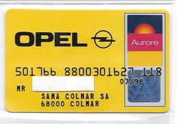 Carte Aurore  Opel Sama Colmar - France
