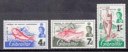Gibraltar MNH Michel Nr 179/81 From 1966 / Catw 2.50 EUR - Gibilterra