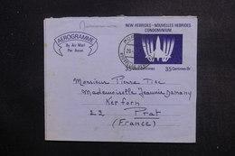NOUVELLE HÉBRIDES - Aérogramme De Port Vila Pour La France En 1972 - L 49013 - Lettres & Documents