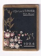 Mini Calendrier Almanach 1924 Parfumerie L. T. Piver 10 Boulevard De Strasbourg Paris - Calendars