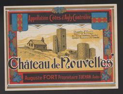 Etiquette Ancienne Vin Chateau De Nouvelles TUCHAN Aude Cotes D'Agly  Auguste FORT 12,5 X 9, 5 CM - Languedoc-Roussillon