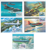 2781-85 B285 Mih 2560-64 Russia 10 2019 Maximum Card 1 Ilyushin Aircrafts Aviation Il-2 Il-28 Il-14 Il-18 Il-62 - 1992-.... Federation