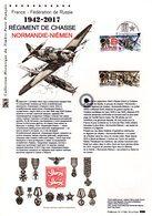 """"""" REGIMENT DE CHASSE NORMANDIE-NIEMEN """" Sur Document Philatélique Officiel De 2017. N° YT 5167  Parf état. DPO - Militaria"""