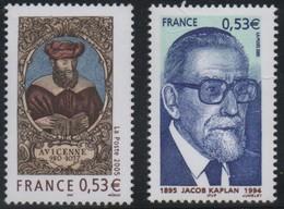 2005 - N°3852 - 3859 -AVICENNE (980-1037) Et J.KAPLAN, GRAND RABBIN DE FRANCE - France