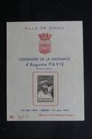 FRANCE - Document Philatélique De Dinan Sur Auguste Pavie En 1947  - L 49016 - 1921-1960: Modern Tijdperk