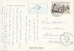 CARTE POSTALE  1957 AVEC CACHET OBSERVATOIRE DU PUY DE DOME - Manual Postmarks