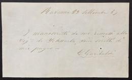 Giuseppe GARIBALDI - Lettera Autografa Firmata - Lettre Autographe Signée - 1859. - Autografi