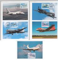2781-85 B285 Mih 2560-64 Russia 10 2019 Maximum Card 1 Ilyushin Aircrafts Aviation Il-2 Il-28 Il-14 Il-18 Il-62 - Airplanes