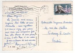 "Beau Timbre , Stamp  Yvert N° 1271 "" Marc Sangnier "" Sur Cp , Carte , Postcard Du 27/03/1961 - Briefe U. Dokumente"