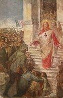 FEDE E MILITARI Periodo Grande Guerra - FORMATO PICCOLO - VIAGGIATA 1917 - (rif. Q56) - Jesus