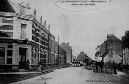 Blériot - Les Baraques - Hotel Guersen - Avenue Des Prés Salés ( Bataillon De Militaires En Arrière Plan ) - France