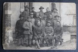 Carte Photo Militaire Soldats Américains Et Militaires Français Du 20ème US Army AEF Guerre Militaria 14-18 WWI - Guerre 1914-18