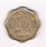 10 PAISE 1970  INDIA /9158/ - Inde