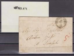 GR    MÜHLEN - TIEFENKASTEN   /  SELTENER EINZEILER - 1862-1881 Sitzende Helvetia (gezähnt)
