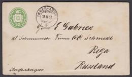 GR    INNER - AROSA  >  RIGA RUSSLAND - Enteros Postales