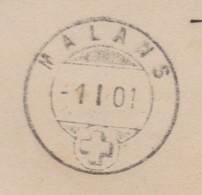 GR    MALANS  /  ANKUNFTSSTEMPEL AUF POSTKARTE VON UNGARN  / DATUM 1.1.01 - Cartas