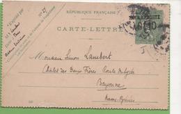 Entier Type SEMEUSE Lignée 10c 130-CL2 Date 550 Pour BAYONNE - Letter Cards