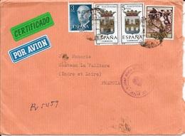 ESPAGNE -  LETTRE PAR AVION POUR LA FRANCE  -  1965 - 1931-Heute: 2. Rep. - ... Juan Carlos I