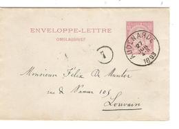 REF69/ Enveloppe Lettre - Omslagbrief 1 C.Audenarde (Oudenarde ) 24/JUIL/4-S/1893 > Louvain (Leuven) C.d'arrivée - Entiers Postaux