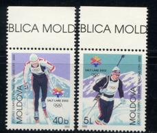 MOLDAVIE MOLDOVA 2002, J.O. Salt Lake City, Ski, 2 Valeurs, Neufs / Mint. R1454 - Winter 2002: Salt Lake City