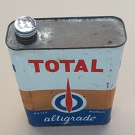 Total Altigrade Bidon D'Huile Ancien En Tole - Voitures