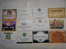 Lot De 12 étiquettes De Vin   Avec Légers Défauts  ( Voir Descriptif) - Collections, Lots & Séries