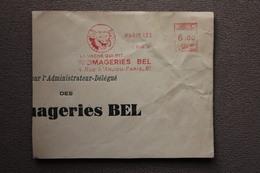 Devant D'enveloppe Oblitération EMA Vache Qui Rit Fromageries Bel Paris 1948 - EMA (Printer Machine)