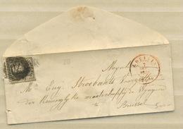 Mignonne Enveloppe Avec 10c    1854 - Bélgica