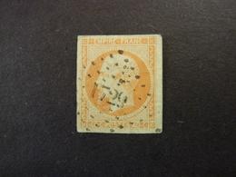 FRANCE, Année 1853-60, YT N° 16 Oblitéré (cote 15 EUR) - 1853-1860 Napoléon III