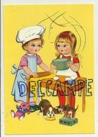 Big Eyes. Deux Petites Pâtissières. Chien Et Chat Qui Se Régalent - Contemporain (à Partir De 1950)