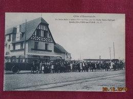 CPA - Sables-d'Or-les-Pins - De Saint-Malo à Sables-d'Or-les-Pins, Par Les Auto-Cars Collyer - France